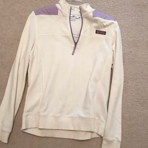 Cream/lavender Vineyard Vines pullover